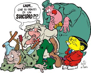 """""""Che si tratti di un suicidio?"""" Nick Carter indaga insieme ai suoi inseparabili aiutanti Patsy e Ten."""