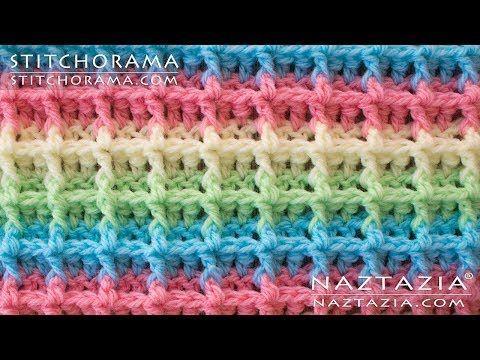 (60) DIY Tutorial - How to Crochet Waffle Stitch - Stitchorama by Naztazia - YouTube #crochetstitchestutorial