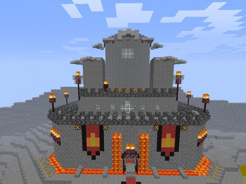 pics of minecraft easy castles   Minecraft Lava Castle