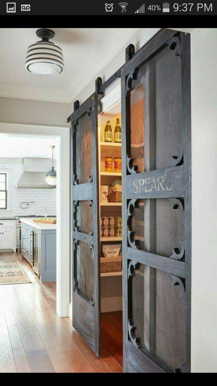 Antique screen doors to sliers for pantry luv from rescape