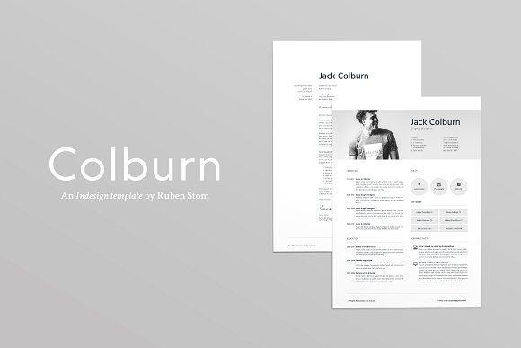Colburn Resume Template by Ruben Stom on @creativemarket Resume