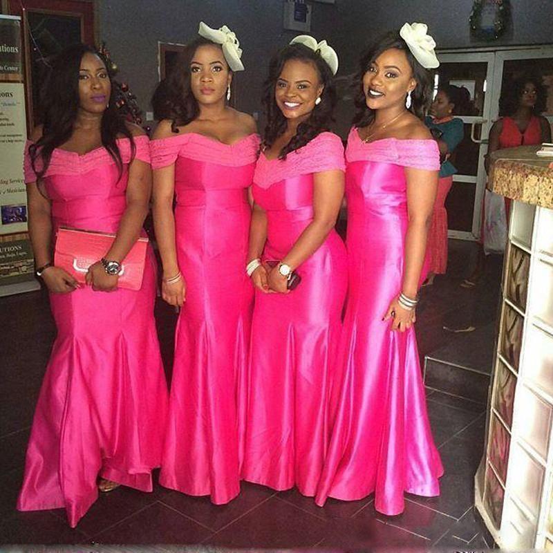 Bridesmaid Dress 2017 Off Shoulder South African Mermaid Satin ...