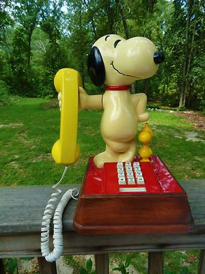 Vtg 1958 1966 1976 Snoopy Woodstock Push Button Touch Tone Phone Telephone Retro Phone Phone Telephones