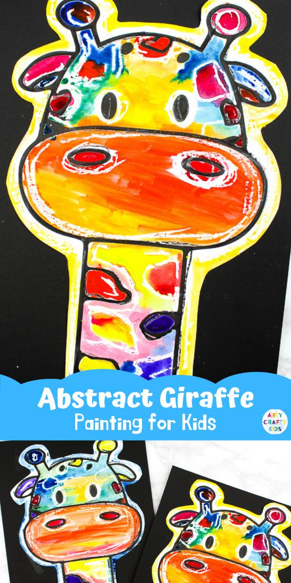 Abstract Giraffe Painting Idea for Kids