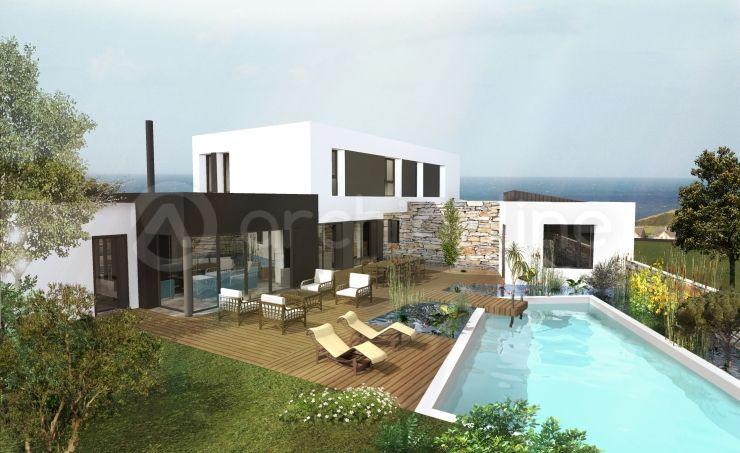 Maison Lancieux - Plan de maison Moderne par Archionline Maisons - facade de maison moderne