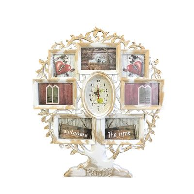Wee\'s Beyond Family Tree Collage Picture Frame with Clock Color ...