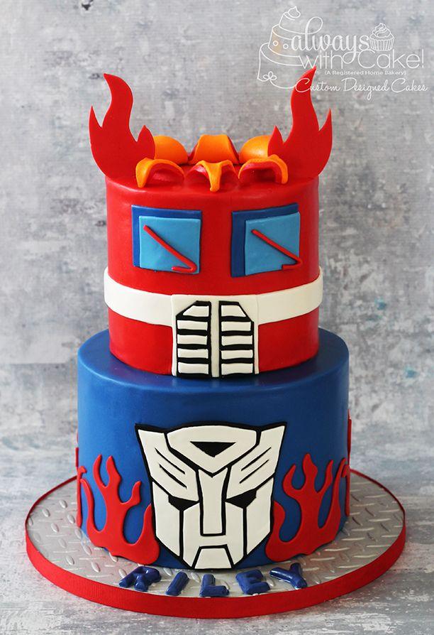 Transformer Birthday Cake Pinteres