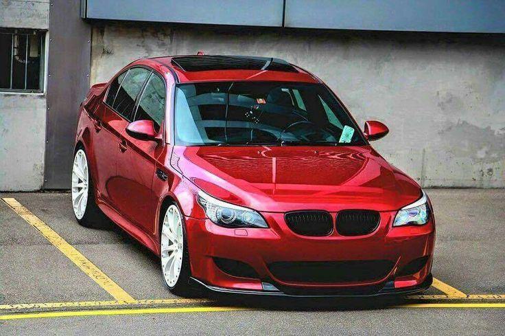 BMW E60 M5 red   Мощные автомобили, Автомобили, Автомобиль