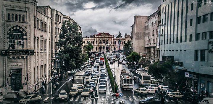 Damascus Syria اطلالة من جسر فيكتوريا