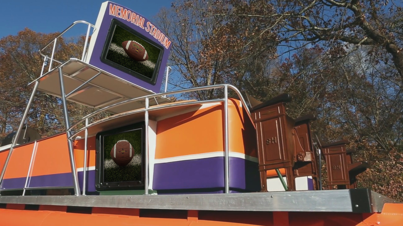 The Tv Shield Goes Boating With Clemson Tigers Fan On Flipping Ships Tv Shield Weatherproof Tv Enclosure Tv Enclosure