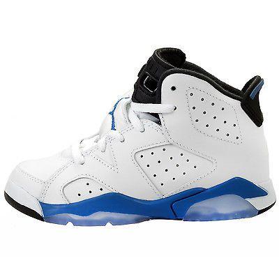 new concept e1f50 4c151 Nike Jordan 6 VI Retro Ps Little Kids 384666-107 Sport Blue Shoes Youth Sz