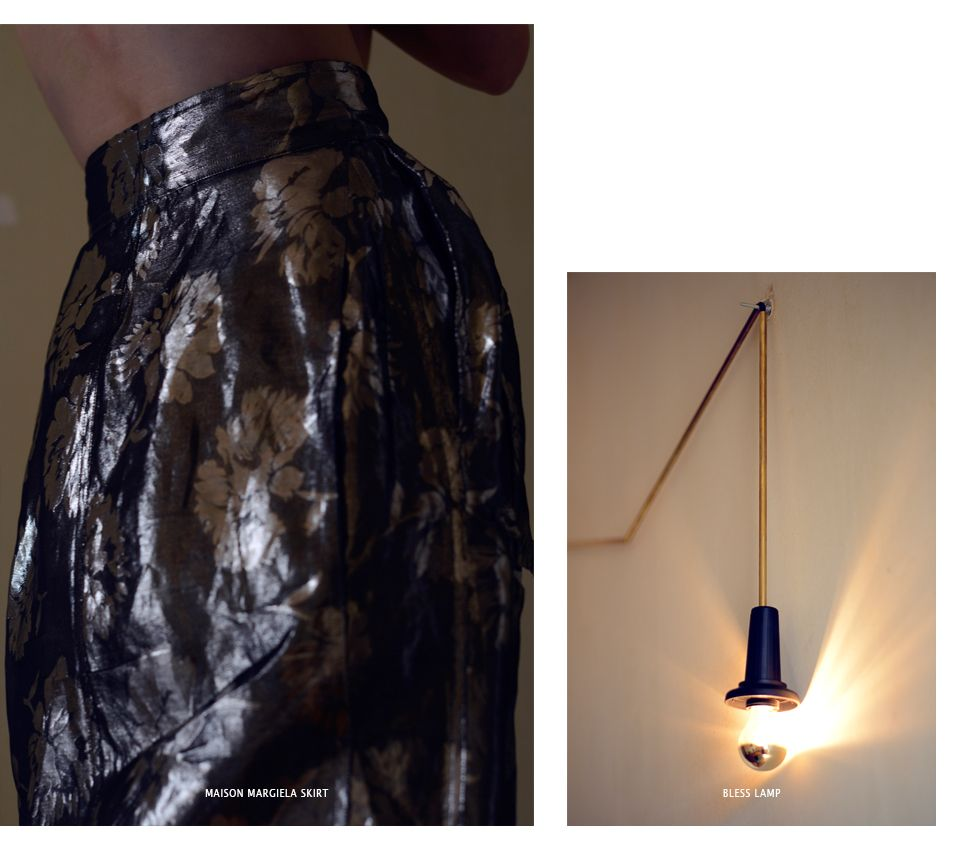 Skirt: MAISON MARGIELA Lamp: BLESS