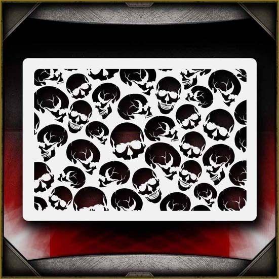 Gear Background AirSick Airbrush Stencil Template