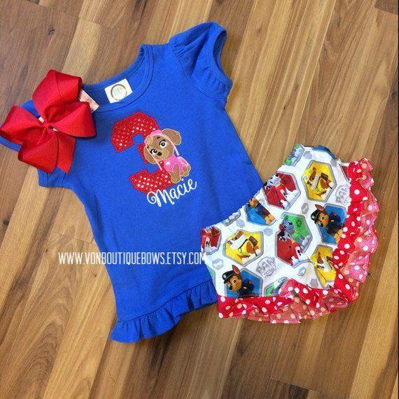 Paw Patrol 1st 2nd 3rd 4th 5th 6th Birthday Baby Short Sleeve Bodysuit