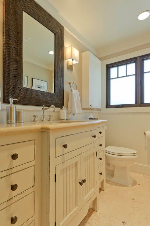 Suzie Regan Baker Design Beautiful Bathroom With Beige Walls Paint Color Trim Painted Shabby Chic Bathroom Bathroom Colors Cottage Bathroom