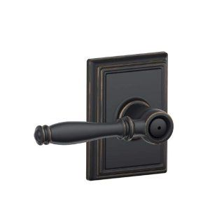 Schlage F40 Bir Add Birmingham Privacy Door Lever Set With