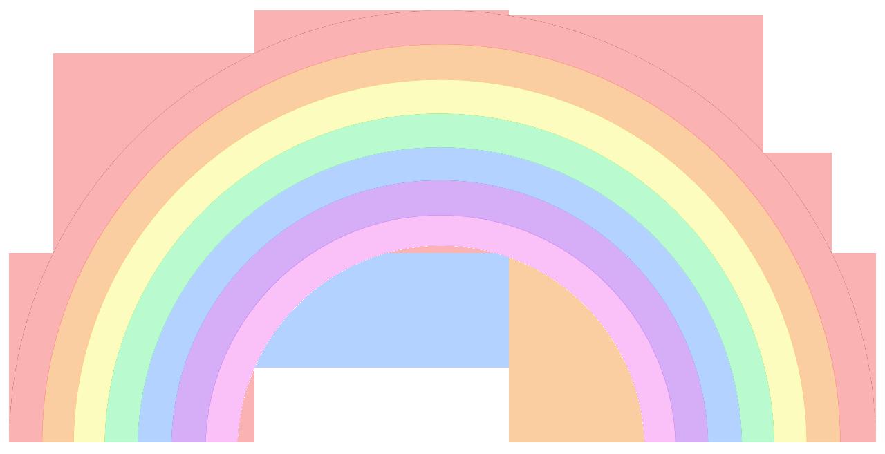 Pastel Pastel Rainbow Background Rainbow Clipart Clip Art