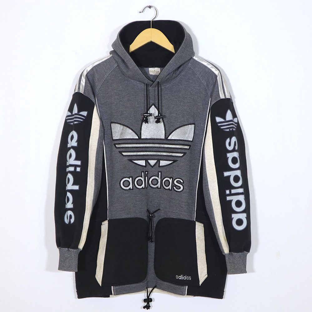 Rare Vintage 80s 90s Adidas Hoodie Sweatshirt Black Gray Etsy Adidas Hoodie Adidas Pullover Sweatshirts Hoodie [ 1000 x 1000 Pixel ]