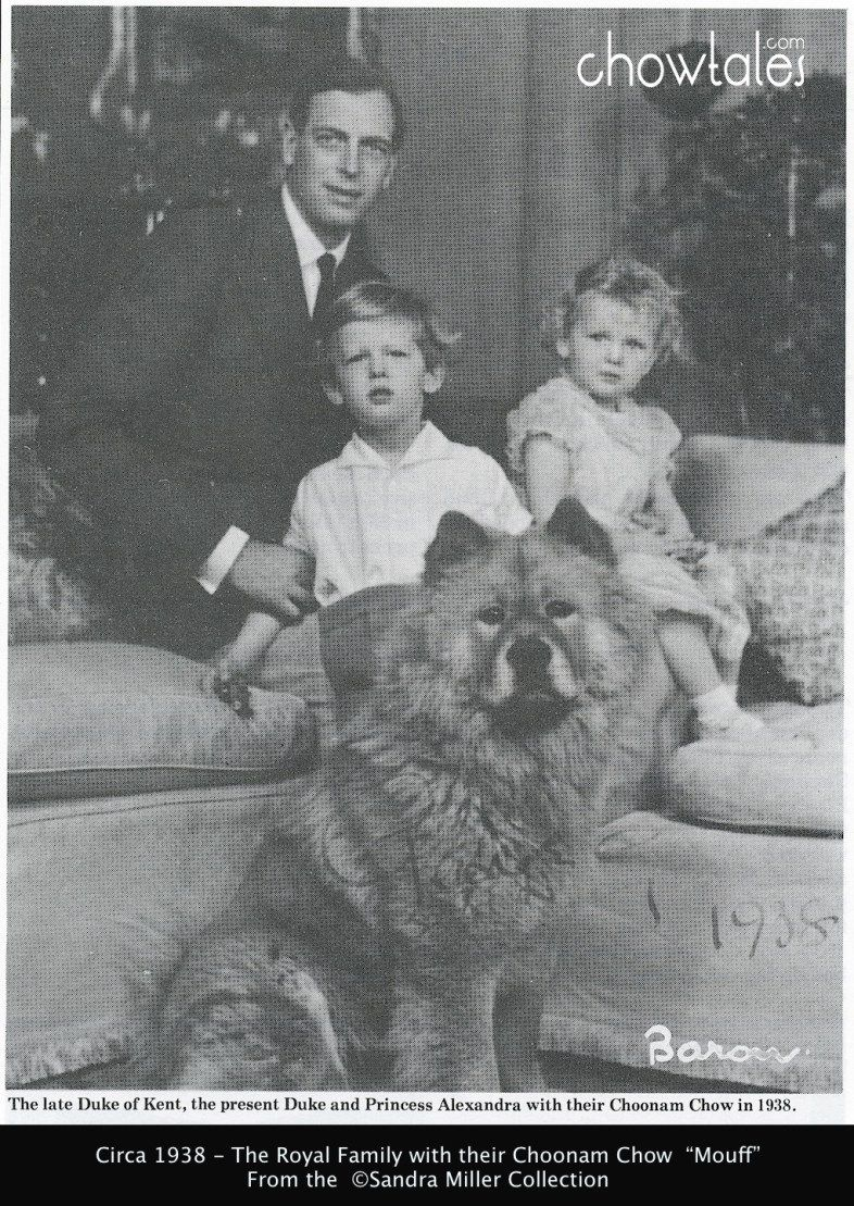 Prince Edward And Princess Alexandra With Mouff Chow Chow Dogs