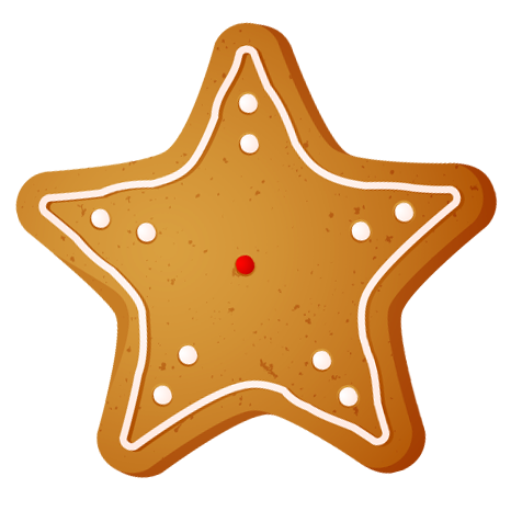 Transparent Christmas Star Cookie Png Clipart Cute Christmas Cookies Clip Art Christmas Star
