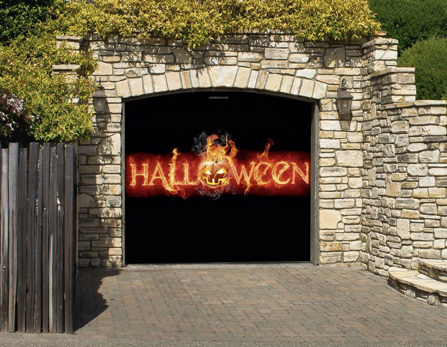 Halloween Garage Mural Halloween Dekoration /Halloween Decoration - halloween garage ideas