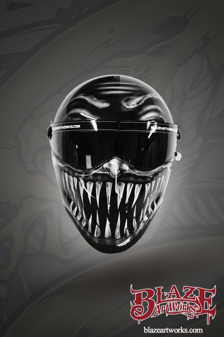 Customvenommotorcyclehelmet motor and helmets pinterest