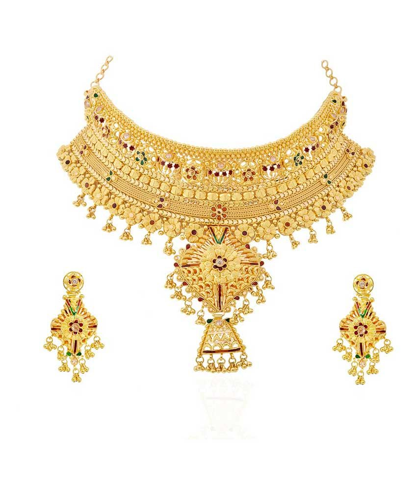 Gurudev Jewellery 22kt Gold Traditional Necklace Set | jewellery ...