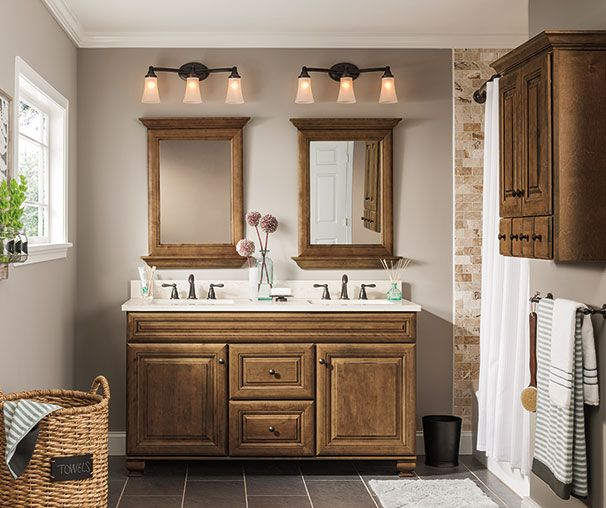 Warm Brown Bathroom Cabinetry Ideas And Inspiration At Value Prices Be Inspired Traditional Bathroom Vanity Country Style Bathrooms Traditional Bathroom