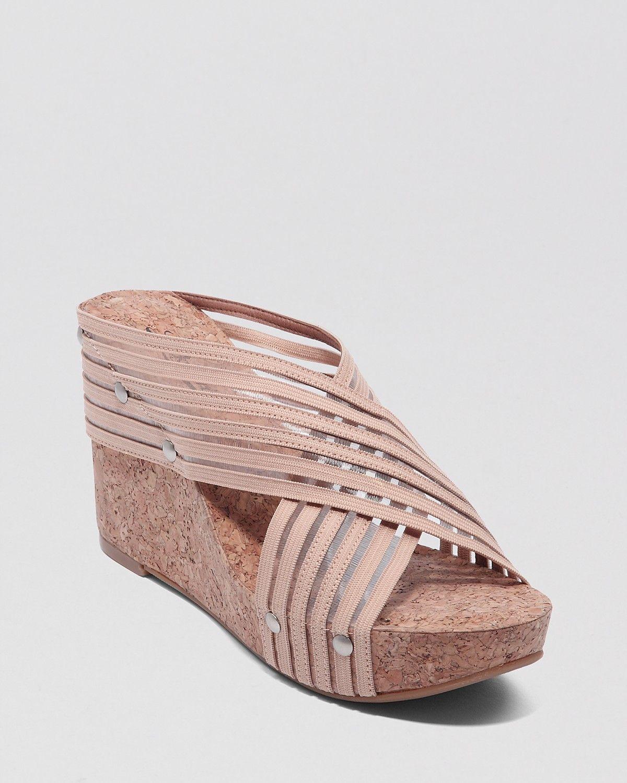 7dcce0e58b2 Lucky Brand Cork Wedge Platform Sandals - Miller