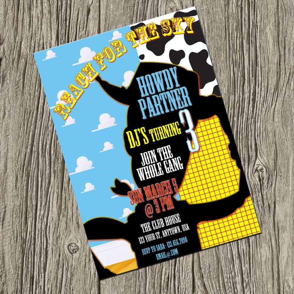 Toy Story Woody Birthday Party Invitation, Disney Birthday Party ...