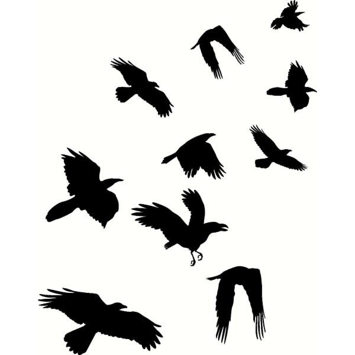 raven flock tattoos the image kid has it. Black Bedroom Furniture Sets. Home Design Ideas