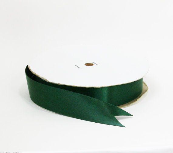 Dark Green Satin Ribbon 7 8 Inch Wide By Blueorchidsupplies