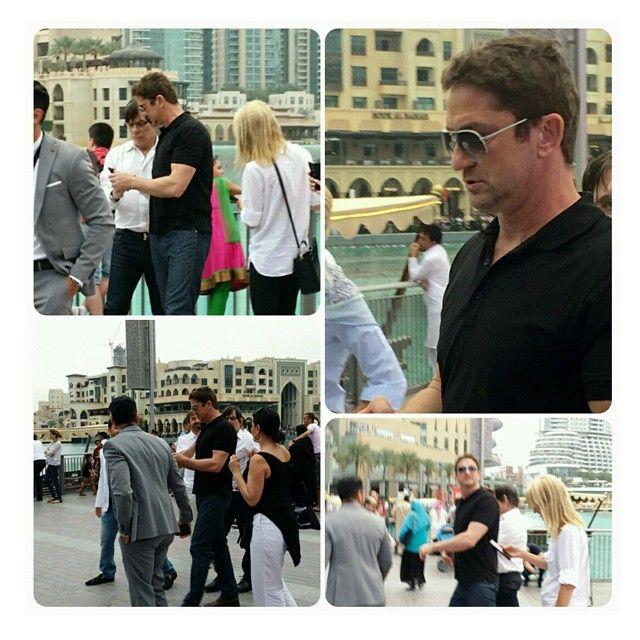 """#gerardbutler in Dubai  #hollywoodactor #famous #scottish #actor #hugoboss"""