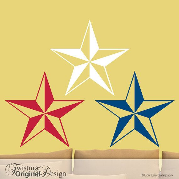 Wall Stars Decals - Country Star Decor, Star Decorations, Vinyl Wall ...