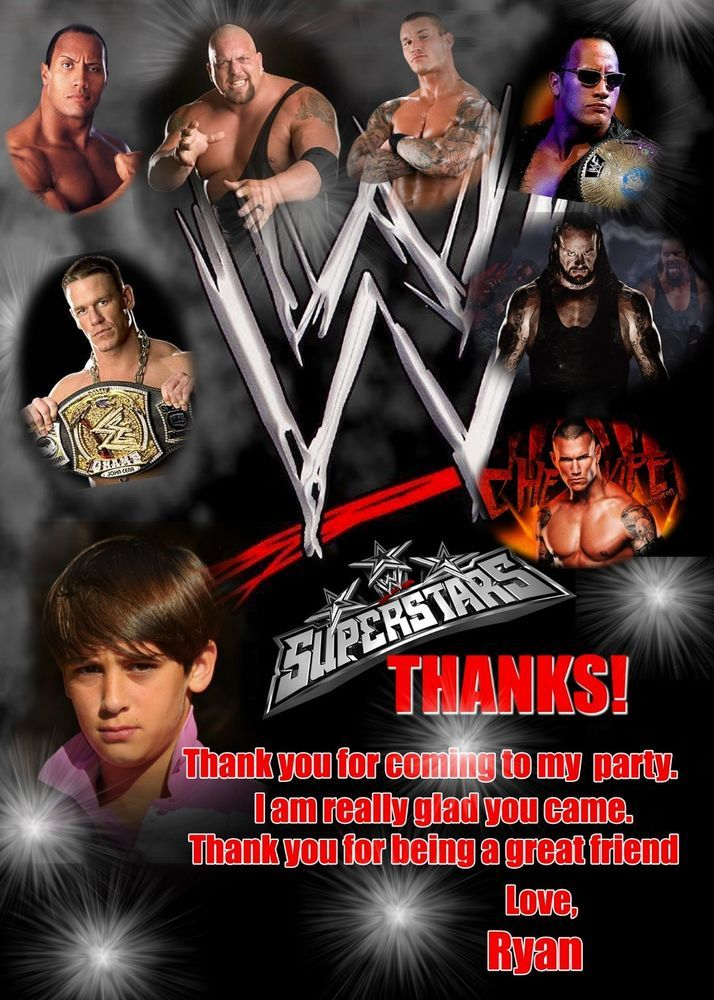 Wwe Thank You Card Thank You Cards Wrestling Thank You Card