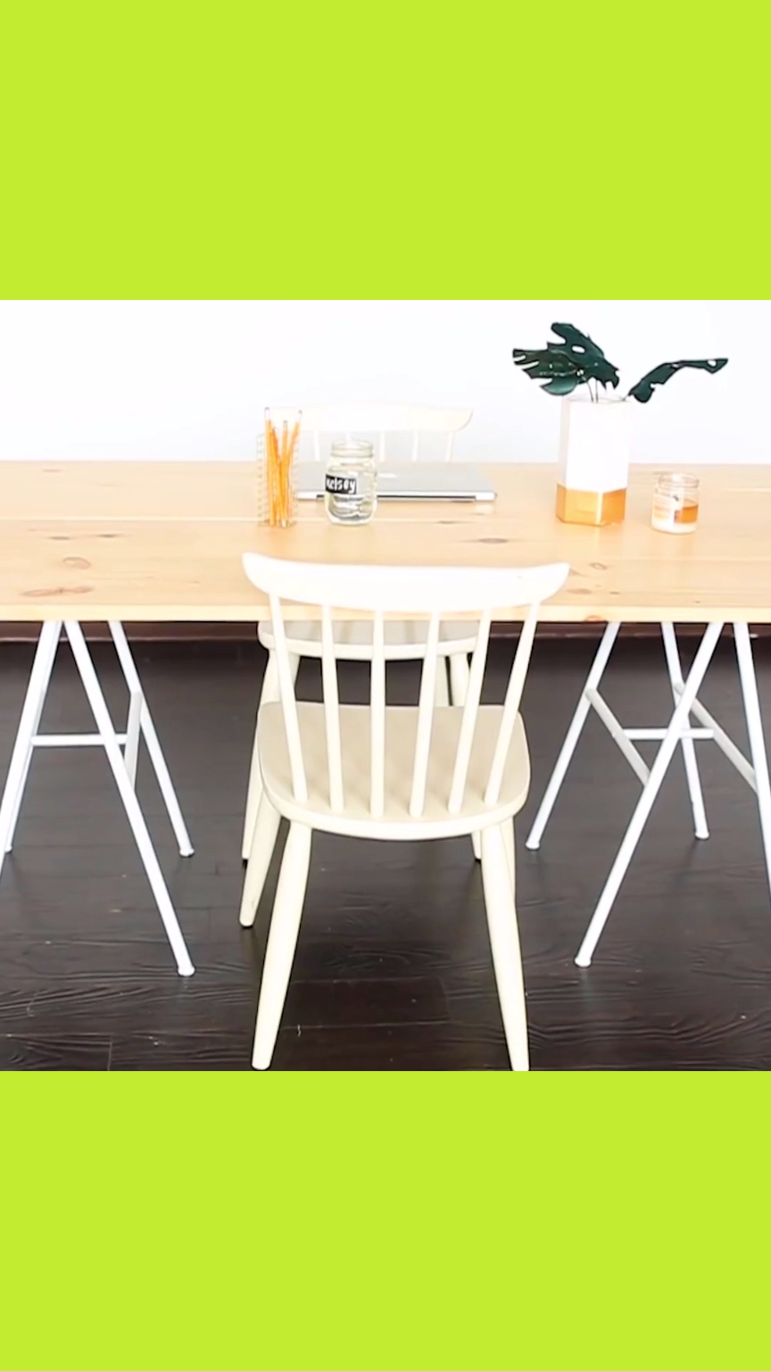 Diy modern plank table wood furniture diy pinterest home decor
