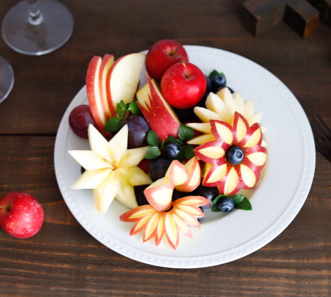 可愛いりんごのカッティングデザイン