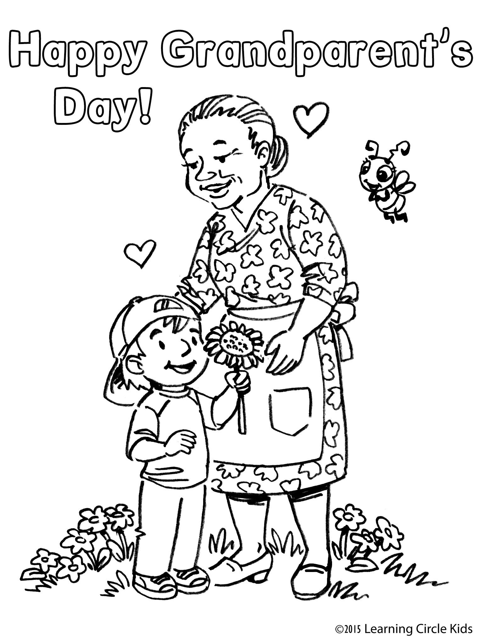 Free coloring page from http://readerbee.com for Grandparent\'s Day ...