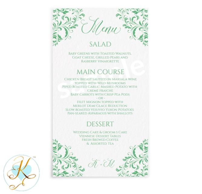 Nadine Menu Template   X   Edit Online  Edit Online Menu