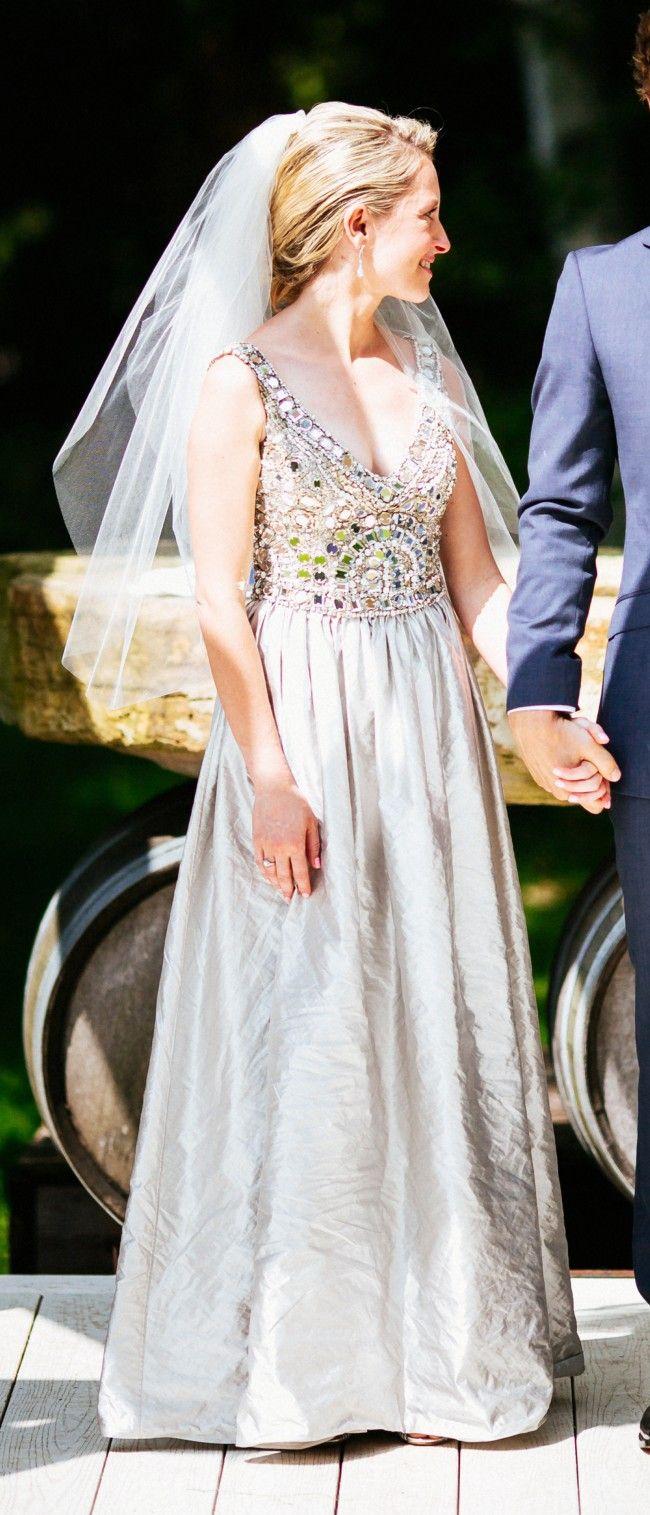 Collette Dinnigan Fantasia V Neck Size 6 Used Wedding Dress Still White Used Wedding Dresses Wedding Dresses For Sale Wedding Dress Over 40