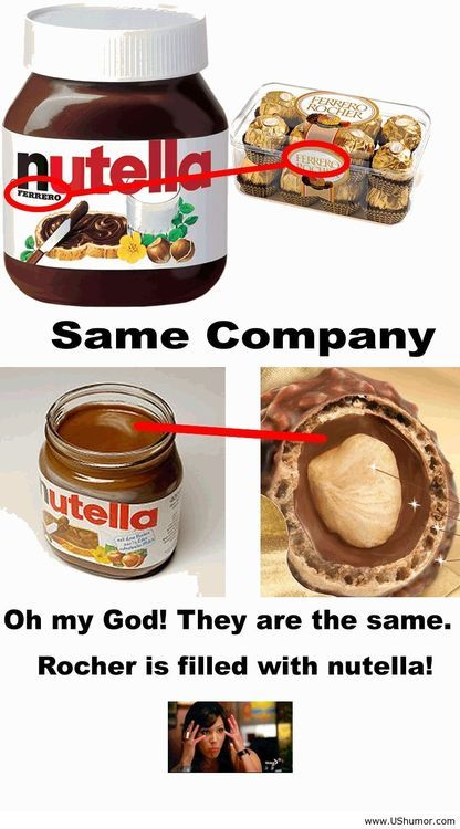 A funny fact about nutella. So that's why they taste so good...