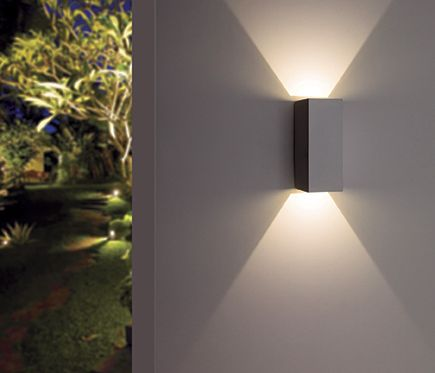 6W LED Outdoor Wall Mount Light Fixture Waterproof Lamp White Finish Garden Gate