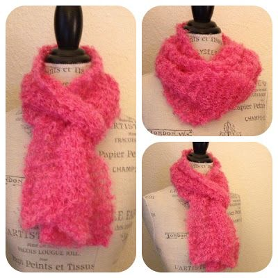 NobleKnits Knitting Blog: Be Sweet Boucle One-Skein Scarf ...