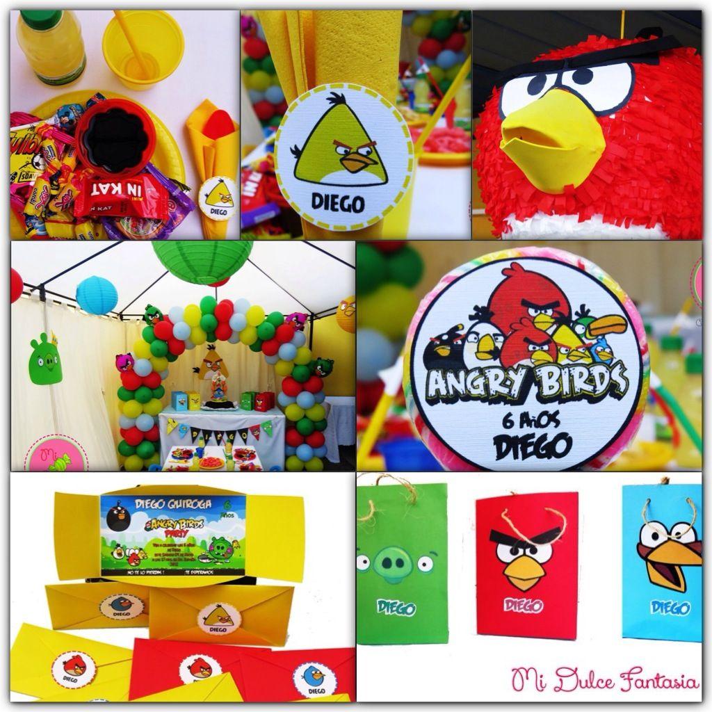 Decoración temática de Angry Birds