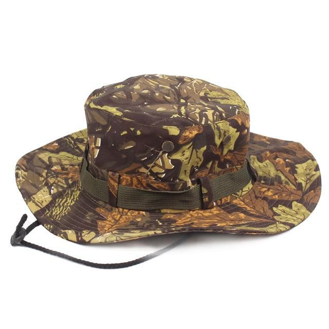 f963bf2039cca7 MENS CAMOUFLAGE CAMO ARMY COMBAT BUSH HAT FISHING MILITARY COTTON BOONIE  CAP HATCS0510