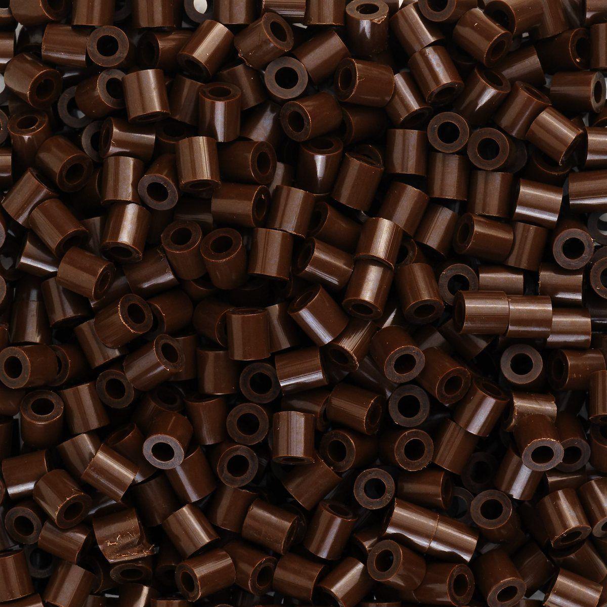 Rørperler midi Mørkbrune 1000