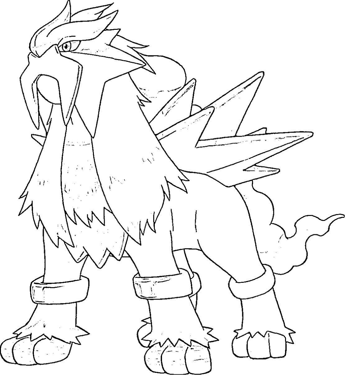 Entei Pokemon Coloring Pages Pokemon Coloring Pages Pokemon