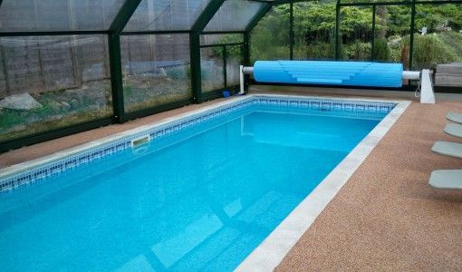 Beautiful Under Roof Swimming Pool Design Ideas Picture | Interior