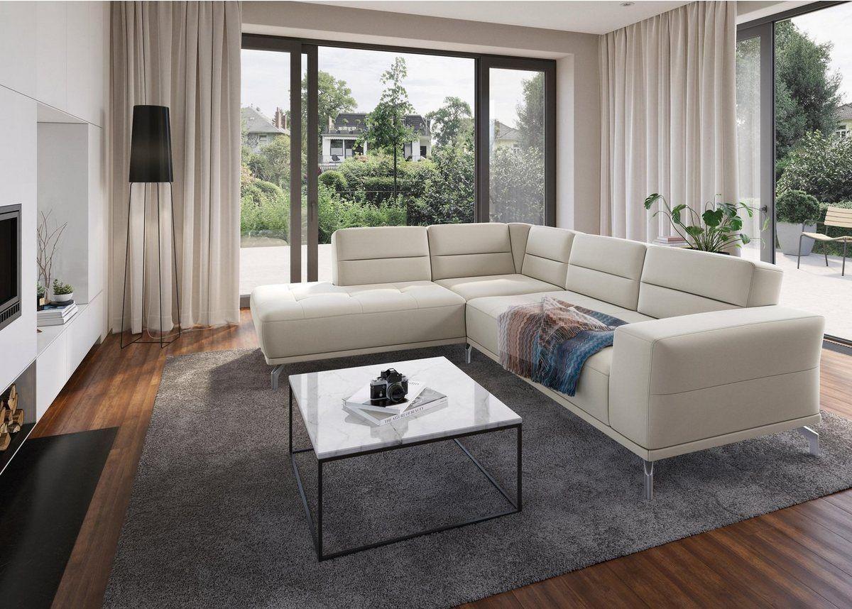 Ecksofa Inklusive Sitztiefenverstellung Ledersofa Sofa Design Und Sofa