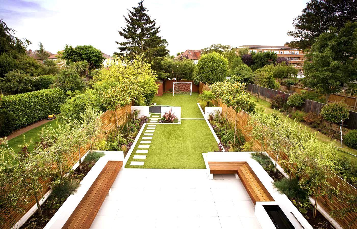 Garden Design Ideas For Large Gardens Narrow Garden On Pinterest